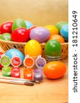 Постер, плакат: Colorful painted Easter eggs