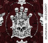 seamless pattern with evil...   Shutterstock . vector #1812120097