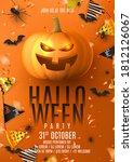 happy halloween party poster.... | Shutterstock .eps vector #1812126067