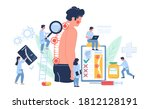 osteopathy session and... | Shutterstock .eps vector #1812128191