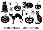 grunge halloween set. includes... | Shutterstock .eps vector #1812134587