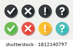 collection round buttons with...   Shutterstock .eps vector #1812140797