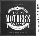 vintage happy mothers's day... | Shutterstock .eps vector #181219871