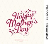 vintage happy mothers's day... | Shutterstock .eps vector #181220561