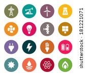 energy icon set | Shutterstock .eps vector #181221071