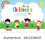 happy children day for new... | Shutterstock .eps vector #1812228037