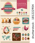 happy easter   infographic and... | Shutterstock .eps vector #181222904