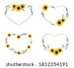 yellow sunflower wild flower...   Shutterstock .eps vector #1812254191