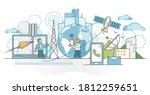 telecommunications industry... | Shutterstock .eps vector #1812259651