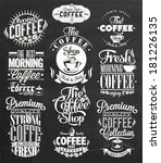 set of vintage retro coffee... | Shutterstock .eps vector #181226135