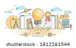 patent for author copyright and ... | Shutterstock .eps vector #1812261544