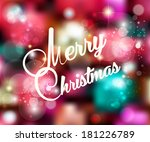 retro vintage christmas card or ... | Shutterstock . vector #181226789