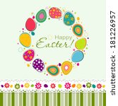 template easter greeting card ... | Shutterstock .eps vector #181226957