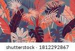 tropical forest art deco...   Shutterstock .eps vector #1812292867