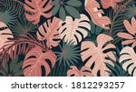 tropical forest art deco... | Shutterstock .eps vector #1812293257