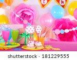 festive table setting for... | Shutterstock . vector #181229555