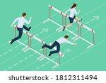 isometric business people... | Shutterstock .eps vector #1812311494