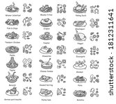 national dishes icons set.... | Shutterstock .eps vector #1812311641