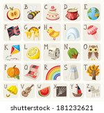 alphabet for children | Shutterstock .eps vector #181232621