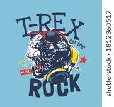 typography slogan with dinosaur ... | Shutterstock .eps vector #1812360517