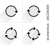 4 black arrow loop  refresh ... | Shutterstock .eps vector #181236305