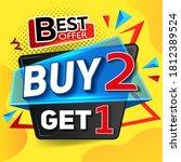 buy 2 get 1 free. sale of... | Shutterstock .eps vector #1812389524