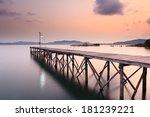 wooded bridge in the port...   Shutterstock . vector #181239221