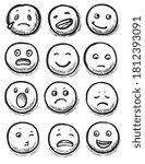 hand drawn emoticon. modern...   Shutterstock .eps vector #1812393091