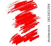 abstract grunge stain in red... | Shutterstock . vector #1812421354