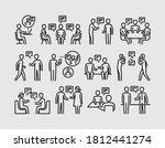 people talking. two people talk ...   Shutterstock .eps vector #1812441274