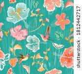 bright color hummingbird ...   Shutterstock .eps vector #1812442717