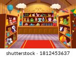 toy shop with shelves of toys.... | Shutterstock .eps vector #1812453637