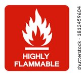 Highly Flammable Symbol Sign ...