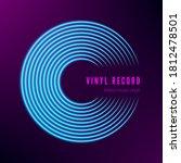 vinyl record neon colors....   Shutterstock .eps vector #1812478501