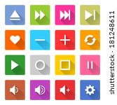 16 media icon set 06  white...