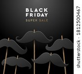 black friday super sale web... | Shutterstock .eps vector #1812500467