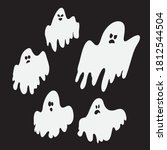 set of scared  spooky and cute... | Shutterstock .eps vector #1812544504