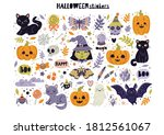 vector stickers for halloween.... | Shutterstock .eps vector #1812561067