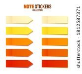 realistic orange sticky notes... | Shutterstock .eps vector #1812587371
