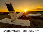 Quadruple Aircraft Parked At A...