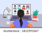 distance school  online...   Shutterstock .eps vector #1812591067