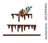 vector bakery logo. chocolate...   Shutterstock .eps vector #1812599494