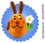 smiling orange rabbit over... | Shutterstock .eps vector #181260539