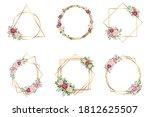 botanical gold geometrical...   Shutterstock .eps vector #1812625507