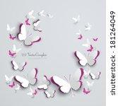 Abstract 3d Paper Butterflies...