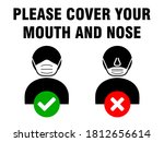 please cover your mouth and... | Shutterstock .eps vector #1812656614
