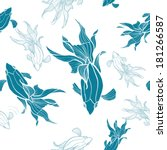 seamless pattern. fish | Shutterstock .eps vector #181266587