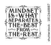 motivational quote. mindset is...   Shutterstock .eps vector #1812668887
