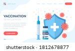vaccination concept.... | Shutterstock .eps vector #1812678877