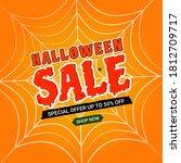 halloween sale background and...   Shutterstock .eps vector #1812709717